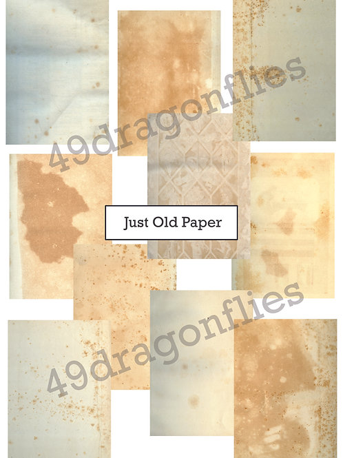 Just Old Paper Backgrounds