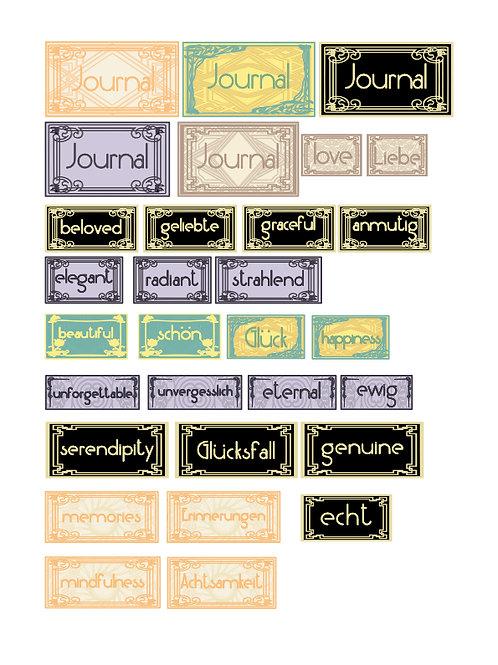 Art Deco Labels Freebie by Debbi Wailes (English/German)