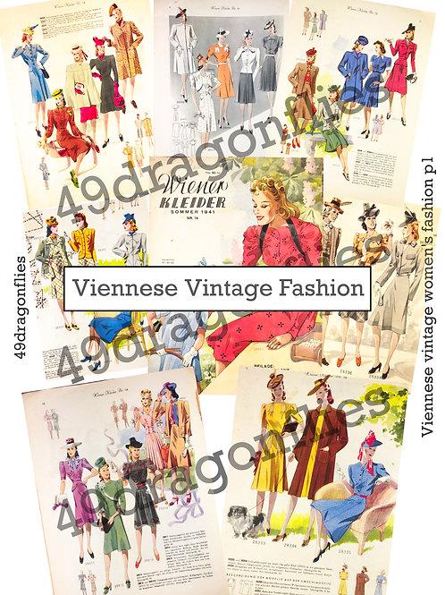 Viennese Vintage Women's Fashion 1940's