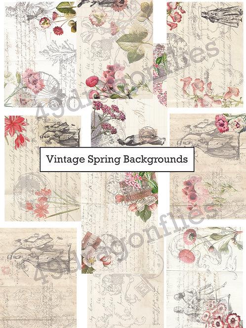 Vintage Spring Backgrounds