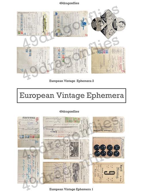 European Vintage Ephemera