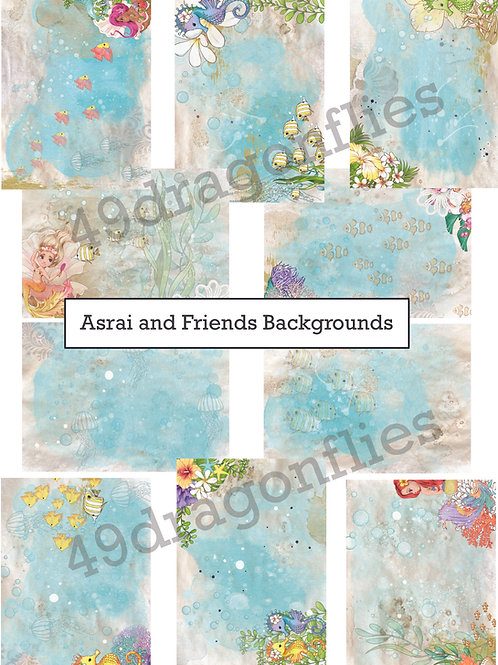 Asrai and Friends Backgrounds