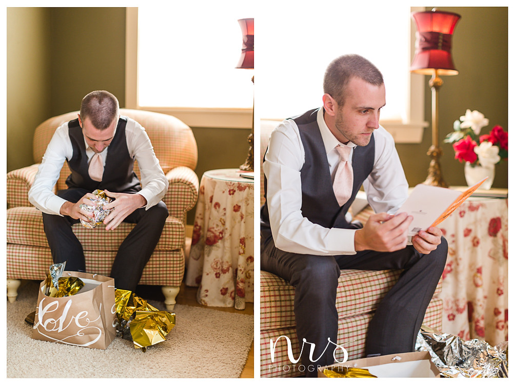 Timber Creek Wedding, Paxton IL, Grooms Gift