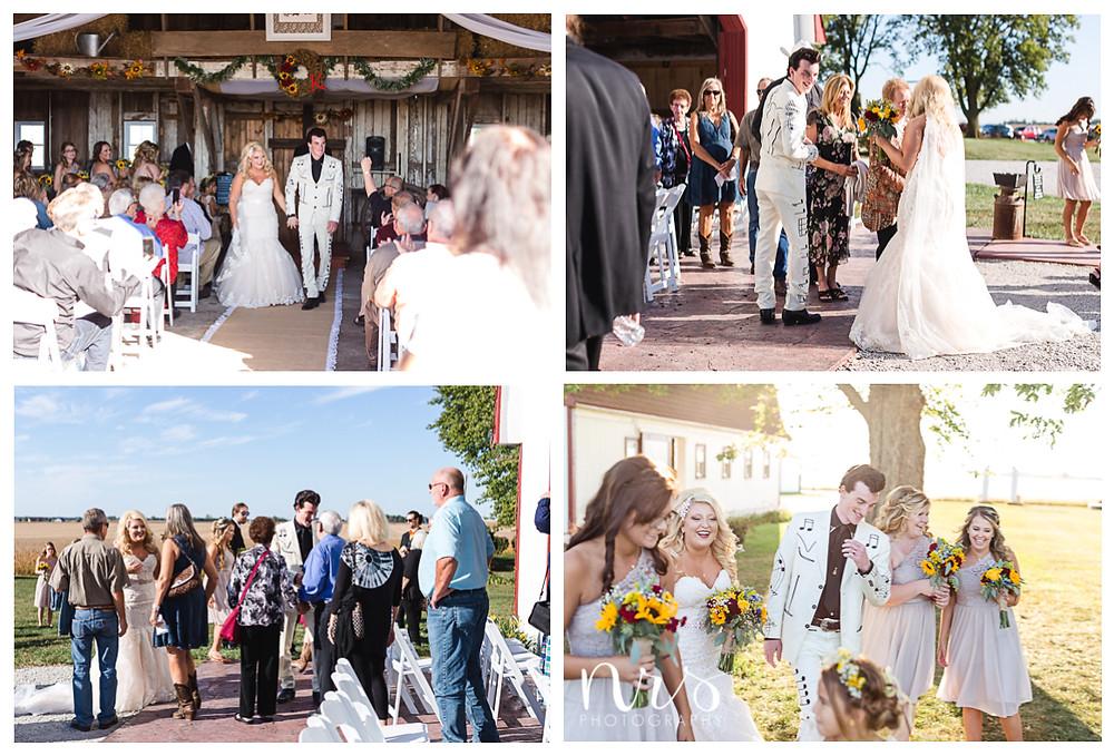 Hudson Farm Wedding, receiving line