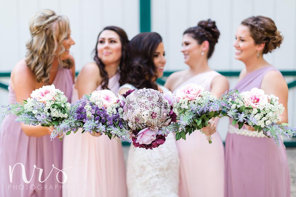 Timber Creek Wedding, Paxton IL, Brooch bouquet