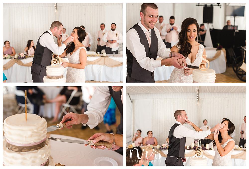 Timber Creek Wedding, Paxton IL, Cake Smash
