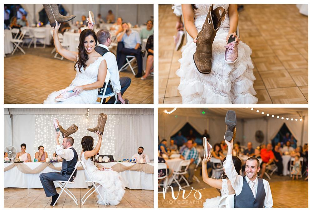 Timber Creek Wedding, Paxton IL, Wedding Shoe Game