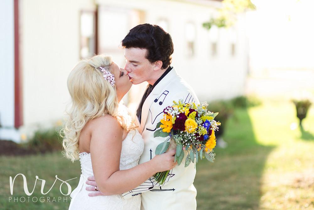 Hudson Farm Wedding, bride and groom