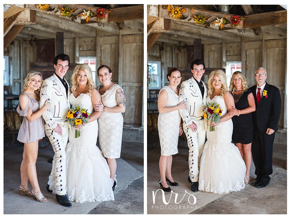 Hudson Farm Wedding, family portraits