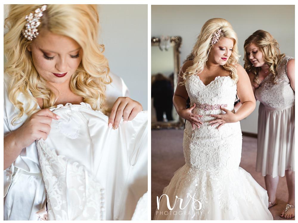 Hudson Farm Wedding, bride getting ready