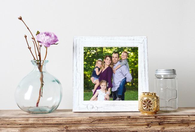 Family photo on display