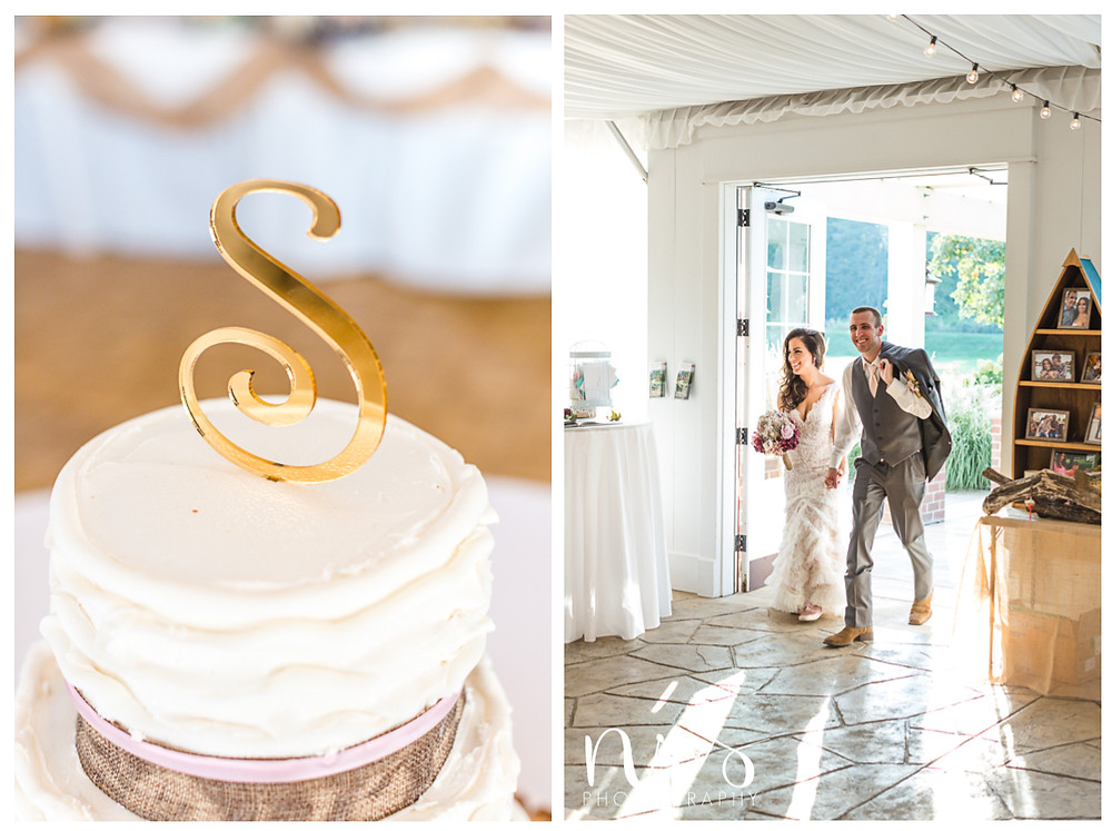 Timber Creek Wedding, Paxton IL, S Cake Topper