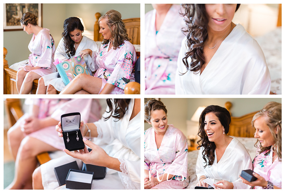Timber Creek Wedding, Paxton IL, Bride's gifts