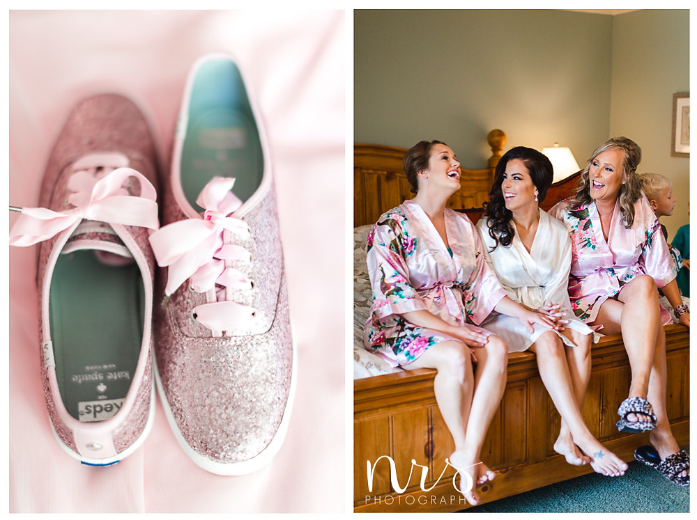 Timber Creek Wedding, Paxton IL, Keds by Kate Spade