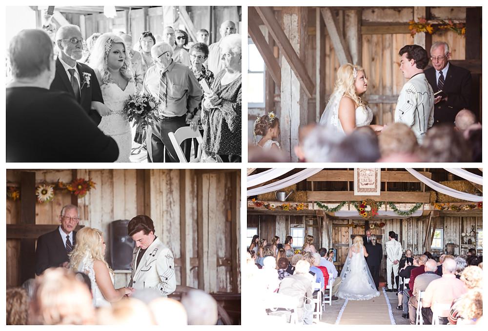 Hudson Farm Wedding, ceremony