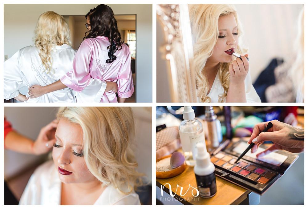Hudson Farm Wedding, hair and makeup