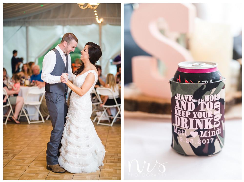 Timber Creek Wedding, Paxton IL, Drink Koozie