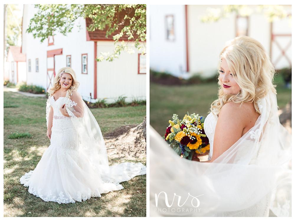 Hudson Farm Wedding, bridal portraits