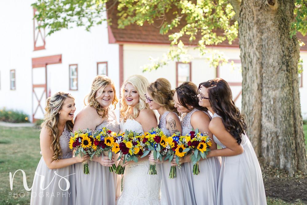Hudson Farm Wedding, bridesmaids