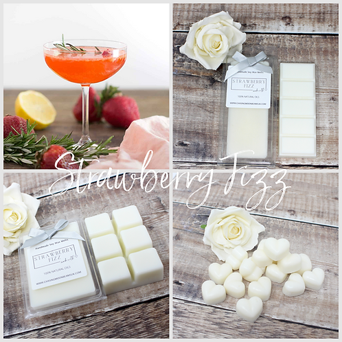 Strawberry Fizz Soy Wax Melts Highly Fragranced