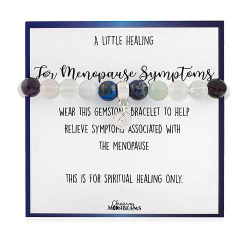 Gemstone healing bracelet for menopause symptoms, beaded healing bracelet
