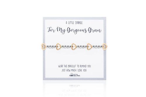 A little sparkle for my gorgeous gran bracelet