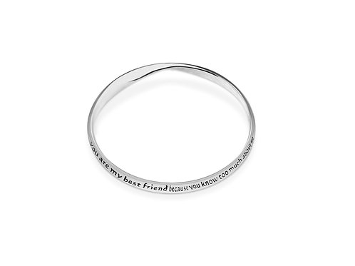 Silver plated friend bangle