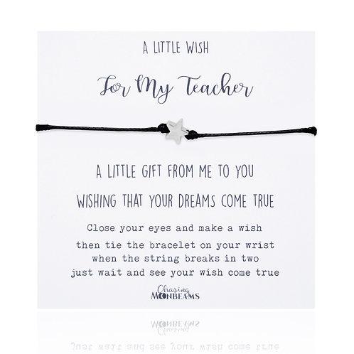 A little wish for my teacher bracelet