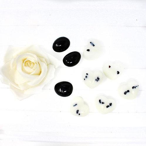 Black Tourmaline Crystal Luxury Wax Melts Snap Bars Clamshells Protection