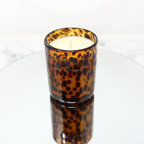 Large Leopard Print Soy Wax Candle