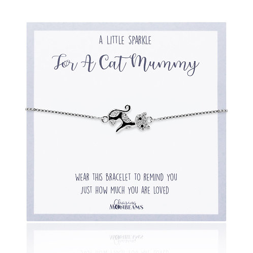 A little sparkle for a cat mummy bracelet