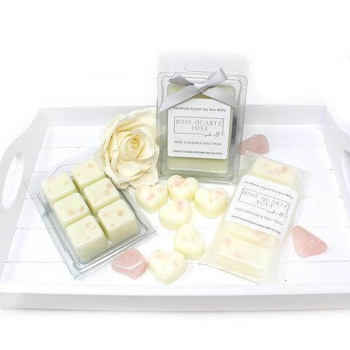 Rose Quartz Crystal Luxury Wax Melts