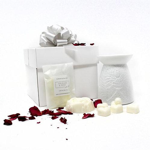 Luxury Wax Melt And Oil Burner Gift Box Set, Choice Of Burner, Choice Of Fragran
