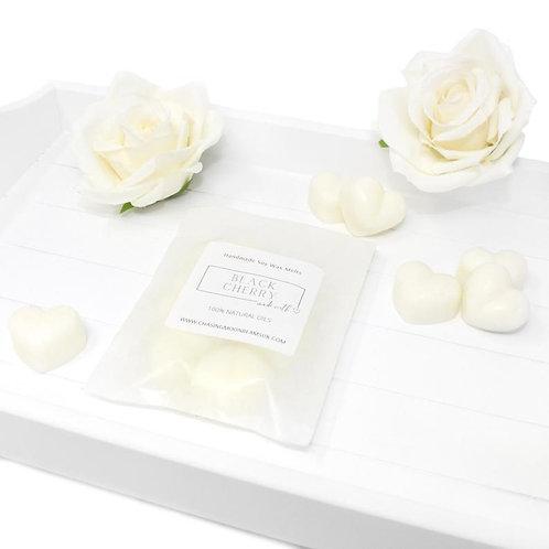Luxury Natural Soy Wax Melts Strong Fragrance Hearts Snap Bars Clamshells