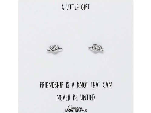 A little gift knot of friendship 925 sterling silver knot earrings