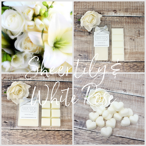 Sheer Lily & White Rose Soy Wax Melts Highly Scented