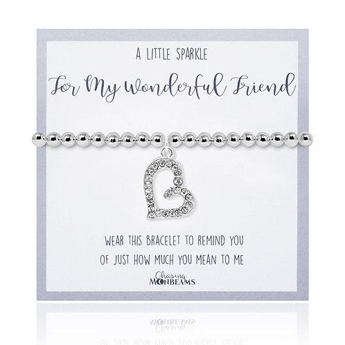 A little sparkle for my wonderful friend bracelet