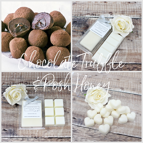 Chocolate Truffle & Posh Honey Soy Wax Melts Highly fragranced