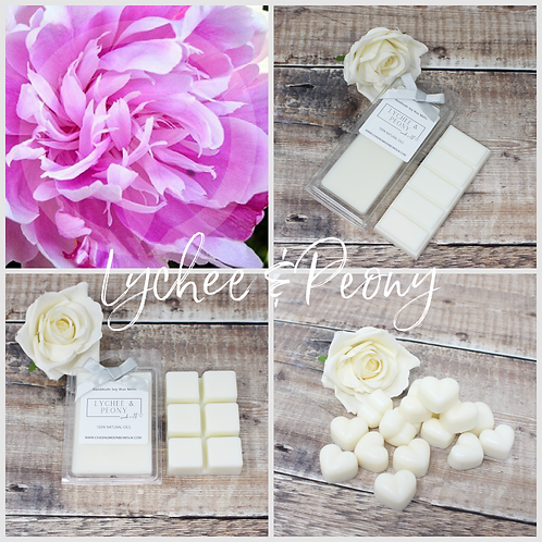 Lychee & Peony Soy Wax Melts Highly fragranced