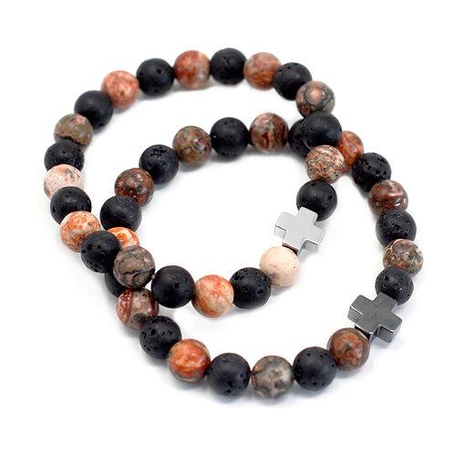 Set of 2 Gemstones Friendship Bracelets -