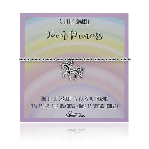 A little sparkle for a princess unicorn bracelet