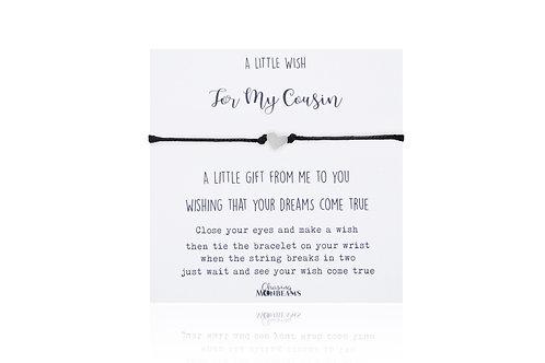 A little wish for my cousin bracelet