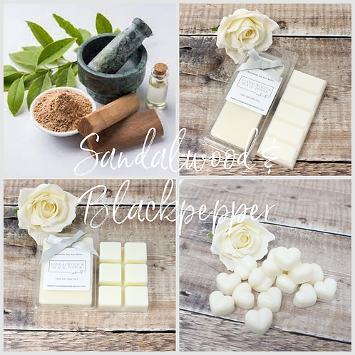 Sandalwood & Black Pepper Soy Wax Melts Highly Scented