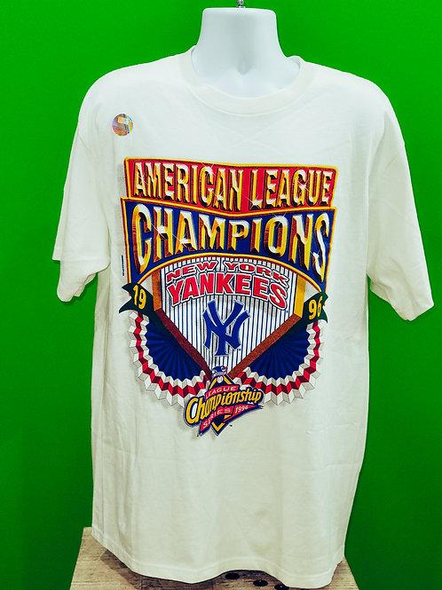 NY Yankees 1996 American League Champs Shirt Large