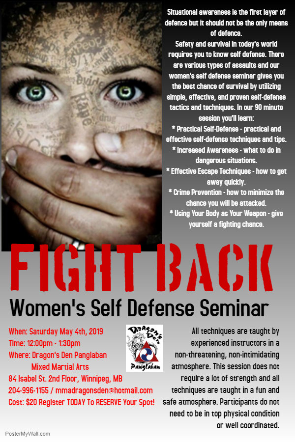 Women's Self Defence Seminar