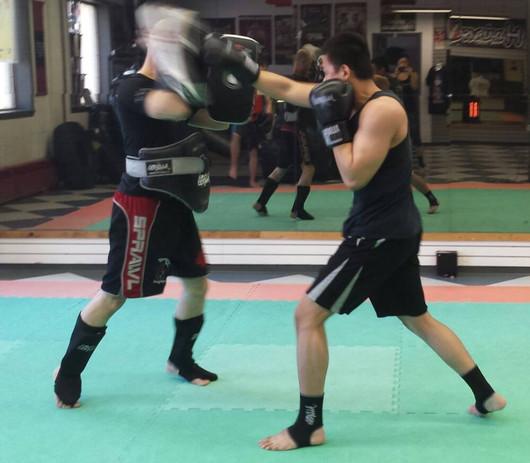 Kickboxing Pad Work