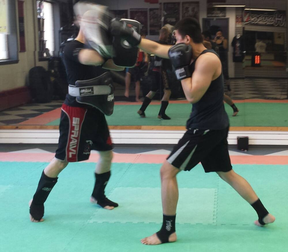 Kickboxing Pad Work