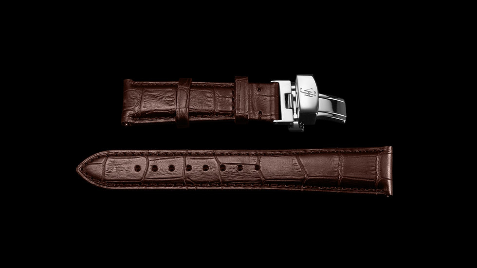 BROWN Classic Style Italian Calf Leather with Silver buckle