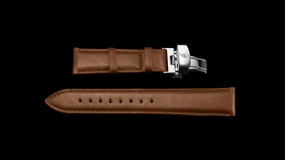 BROWN Aesthetic Style Italian Calf Leather with Silver buckle