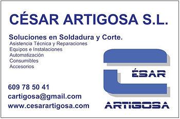 César Artigosa S.L. Reparación y venta equipos, consumibles y accesorios de soldadura y corte